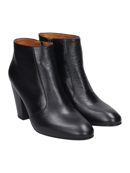 Chie Mihara El-huba High Heels Ankle Boots In Black Leather