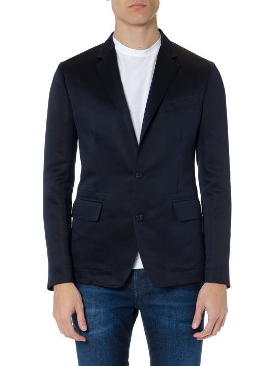 Alexander McQueen Navy Blue Single Breast Jacket