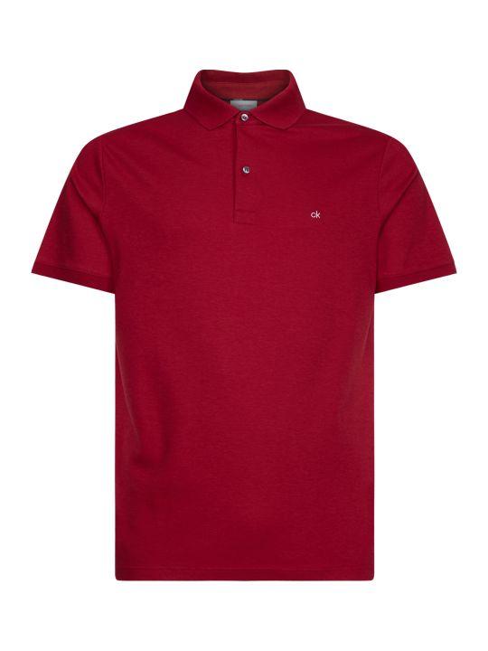 Calvin Klein Calvin Klen Red Cotton Ck Polo