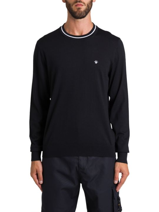 Dior Homme Crewneck Sweater With Embroidered Bee