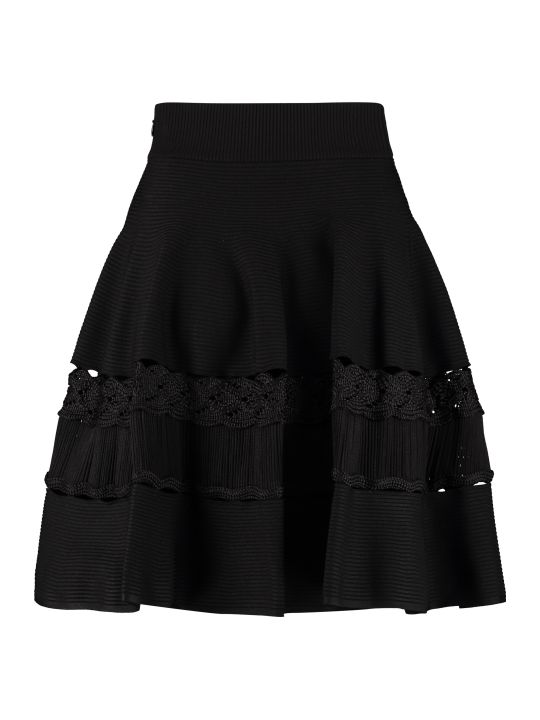 Alexander McQueen Ribbed Knit Skirt