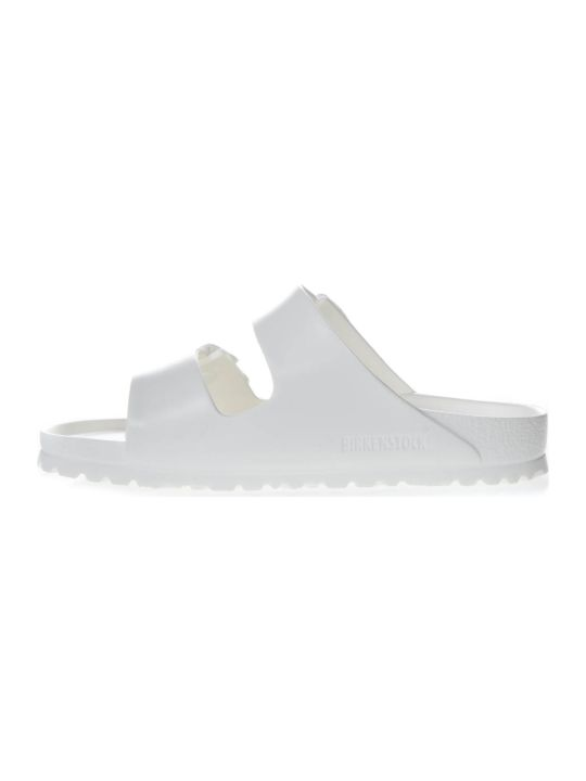 Birkenstock White Arizona Slippers