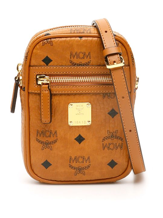 MCM Visetos Crossbody Mini Bag
