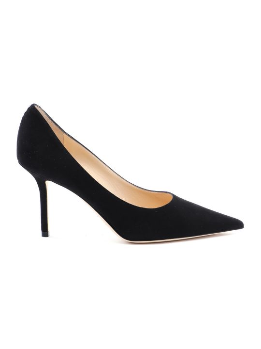 Jimmy Choo Suede Button Pump
