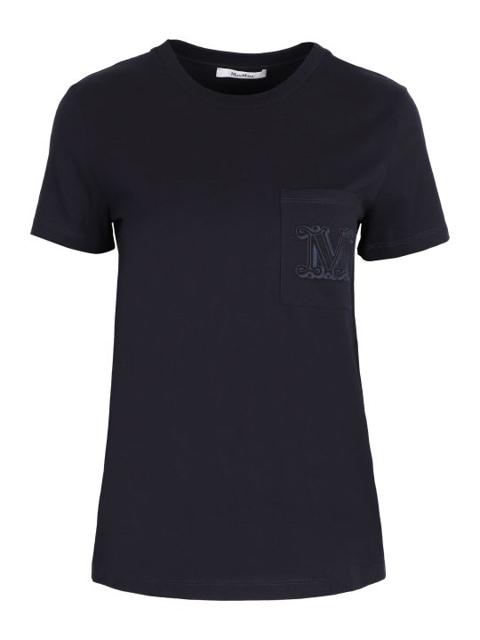 Max Mara Vicario Cotton T-shirt With Chest Pocket