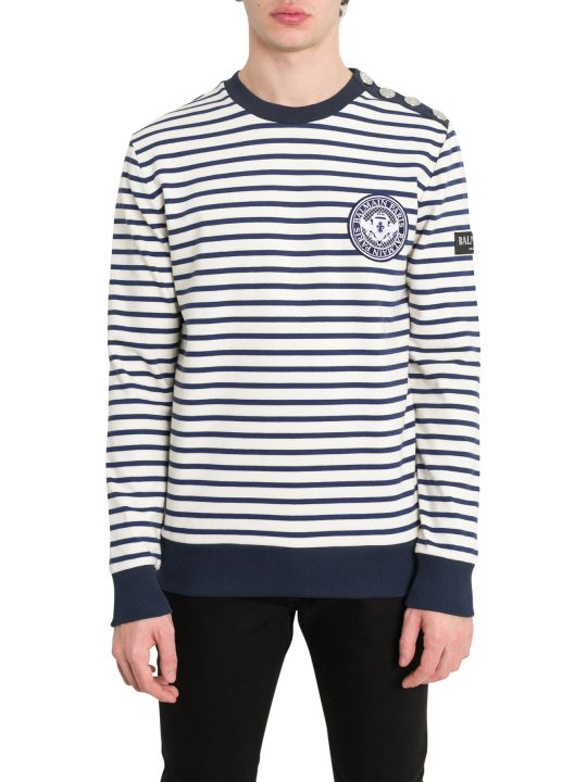 Balmain Sailor Pullover With Logo Partch