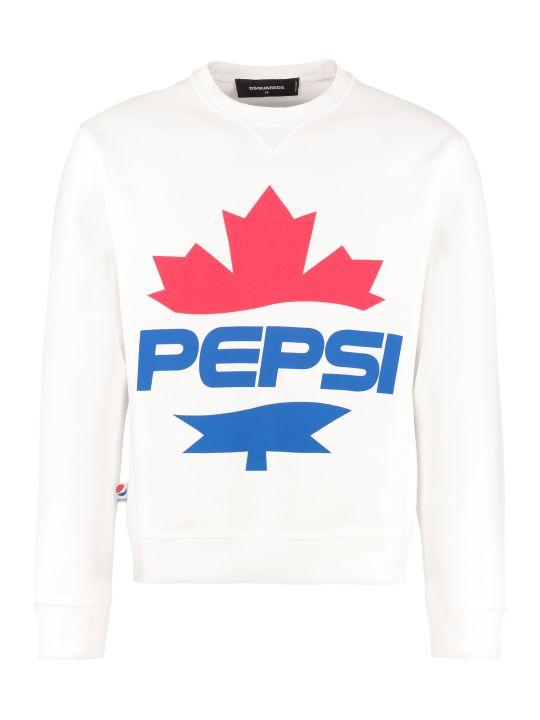 Dsquared2 Cotton Crew-neck Sweatshirt - Dsquared2 X Pepsi