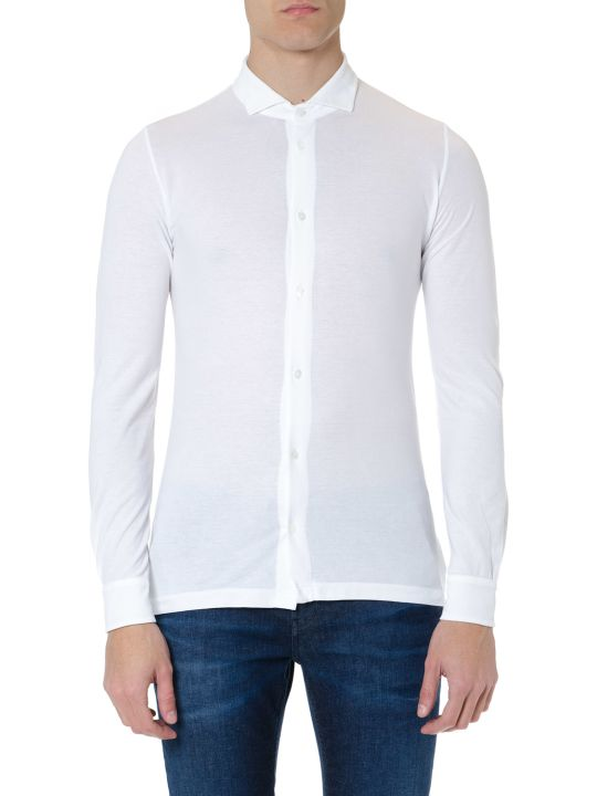 Zanone White Cotton Shirt