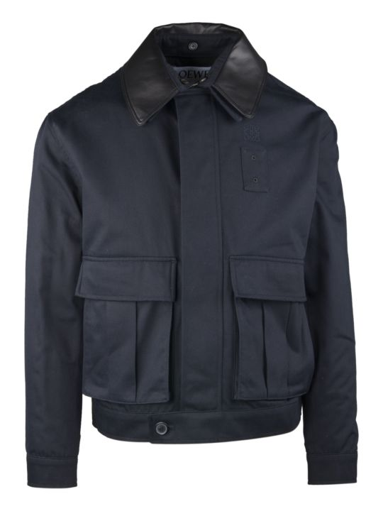 Loewe Gabardine Jacket With Applied Pockets