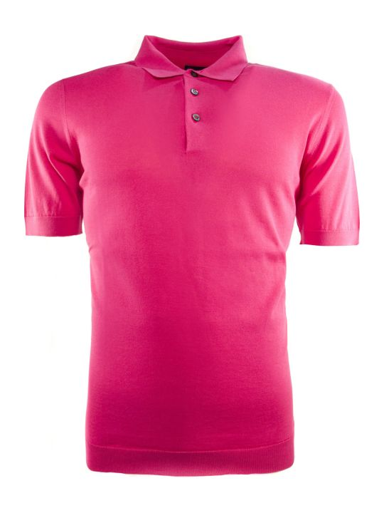 Drumohr Fuchsia Cotton Polo Shirt