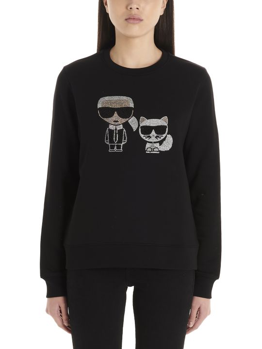 Karl Lagerfeld 'ikonic Karl & Choupette' Sweatshirt