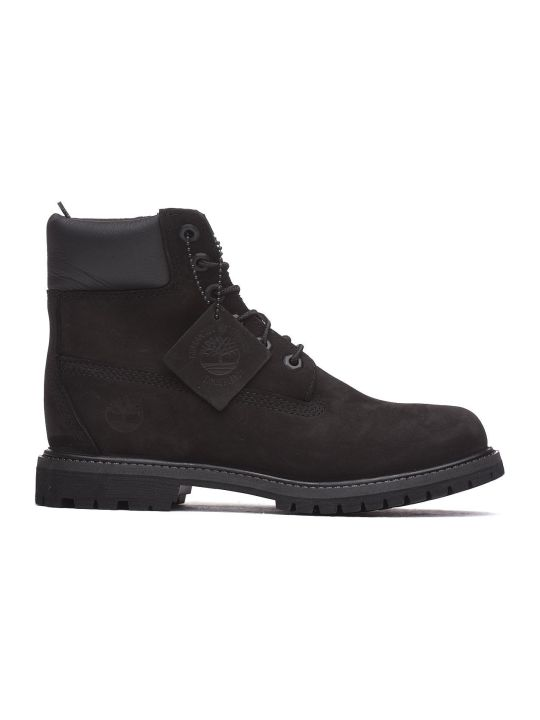 Timberland Black Nabuk Ankle Boots