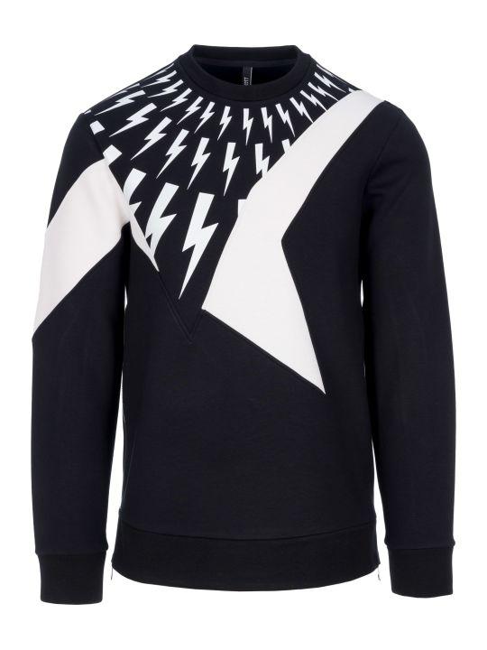Neil Barrett Thunder Bolts Print Sweatshirt