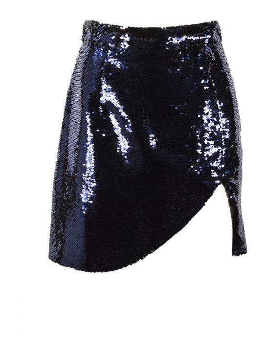 Amen Blue Sequin Skirt