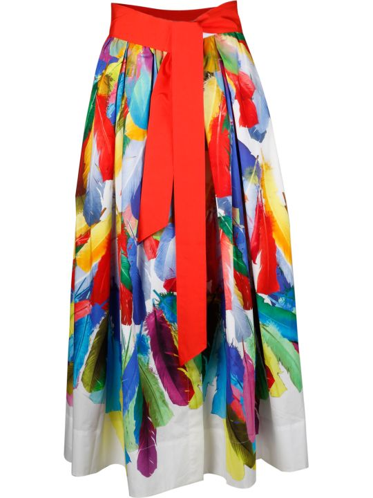 Sara Roka Multi-color Printed Skirt