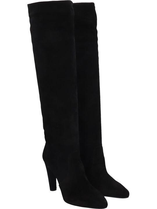 Del Carlo Boots In Black Suede