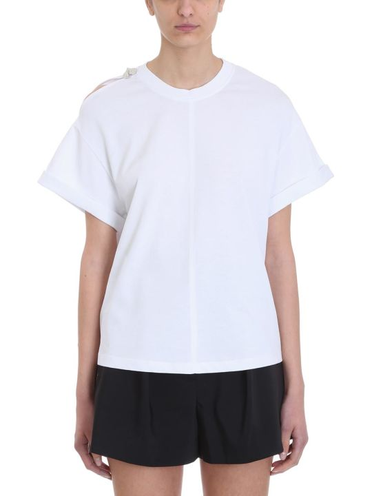 3.1 Phillip Lim Cut Out Black Cotton T-shirt