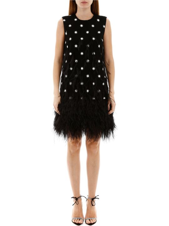 N.21 Star Print Dress With Feathers