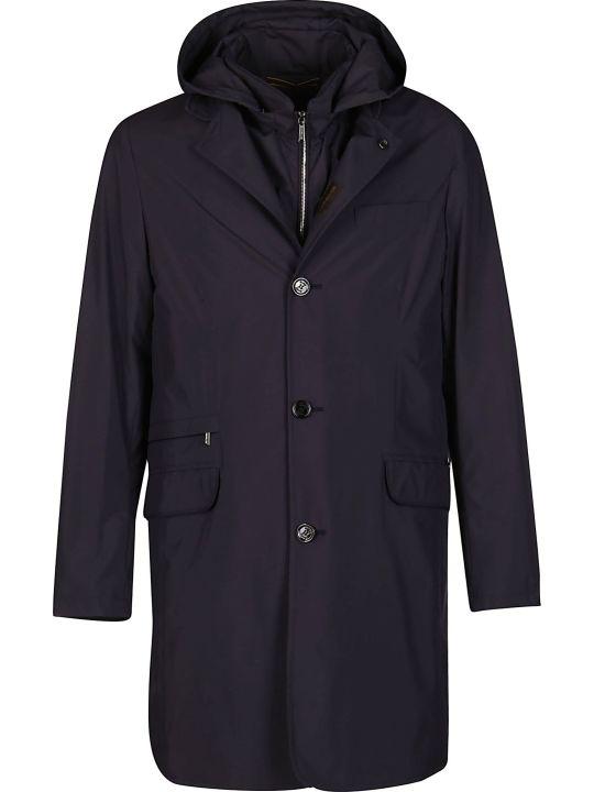 Moorer Blue Bassani Layered Coat