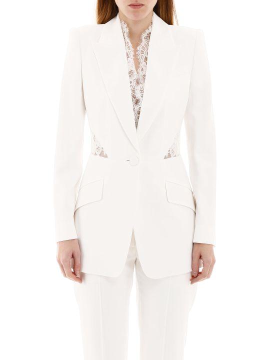 Alexander McQueen Blazer With Lace Inserts