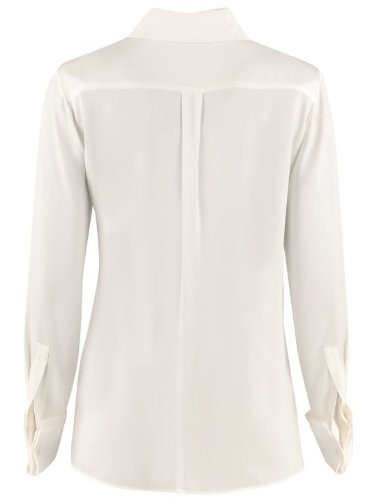 Max Mara Mogador Long-sleeved Silk Shirt
