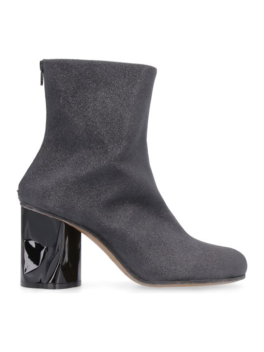 Maison Margiela Glittery Fabric Ankle-boots