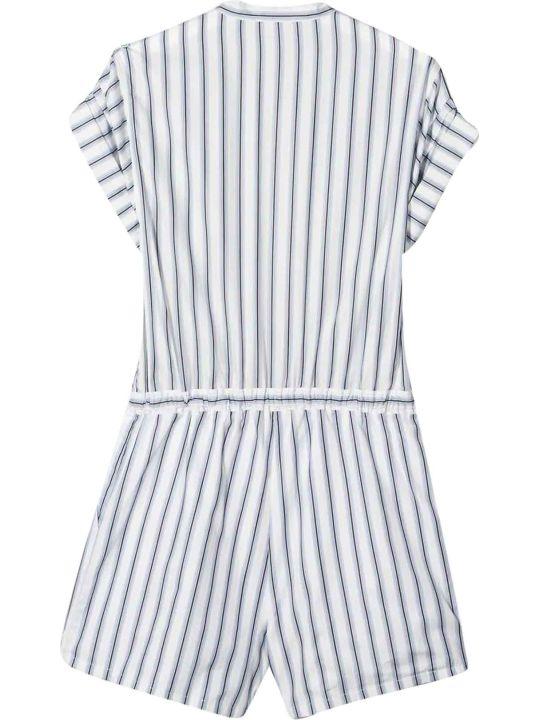 Chloé White And Blue Chloé Kids Suit