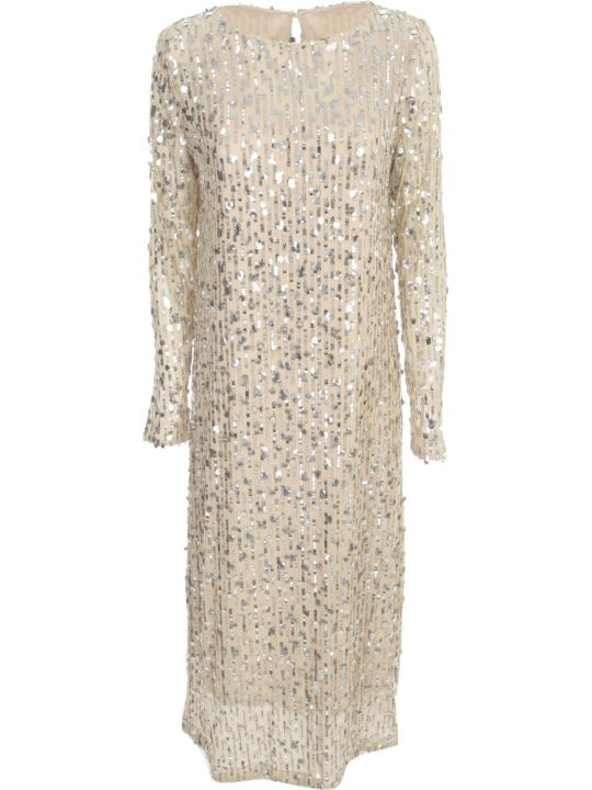 In The Mood For Love Round Neck Long Sleeved Sequin Dress