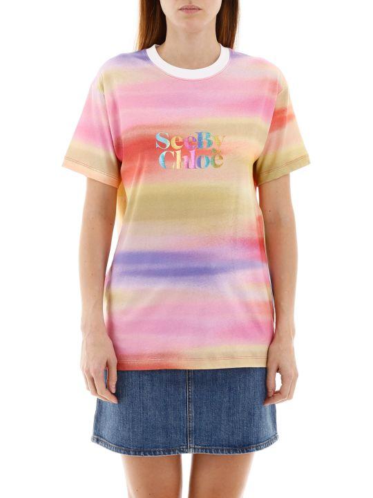 See by Chloé Rainbow Logo T-shirt