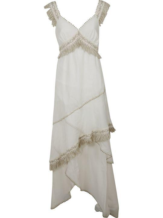 Blumarine Fringed Detail Dress