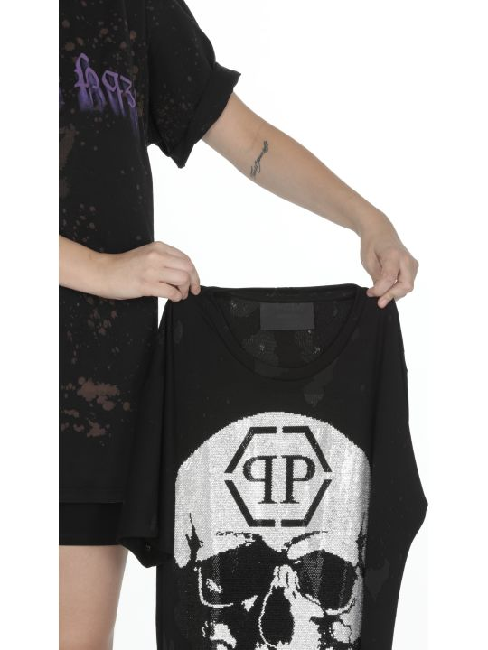 Philipp Plein Dress With Skull