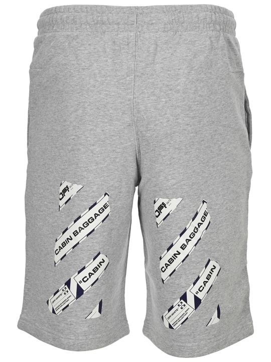 Off-White Off White Airport Tape Sweatshorts