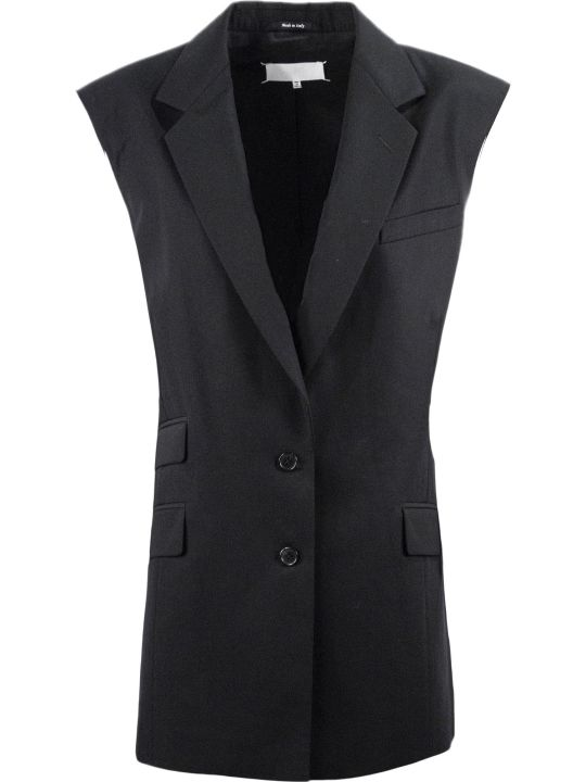 Maison Margiela Black Cotton Blazer Jacket