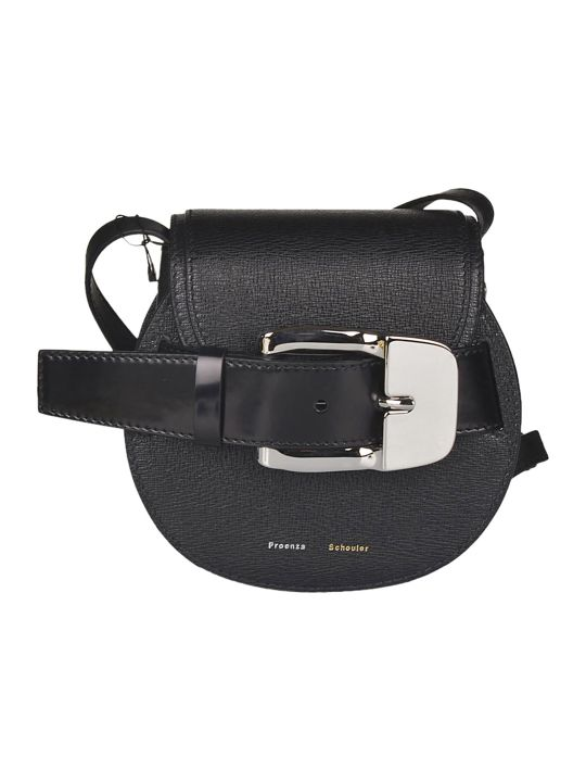 Proenza Schouler Buckle Front Round Shoulder Bag