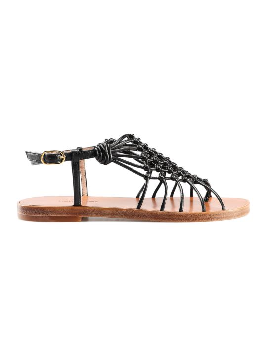 Stuart Weitzman Knotted Strappy Flat Sandals