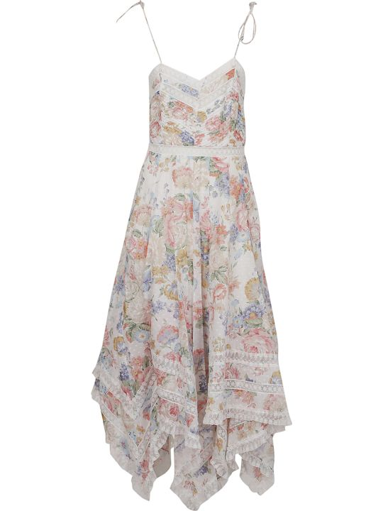Zimmermann Bowie Pintuck Scarf Dress