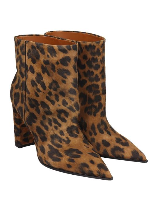 Lerre High Heels Ankle Boots In Animalier Pony Skin