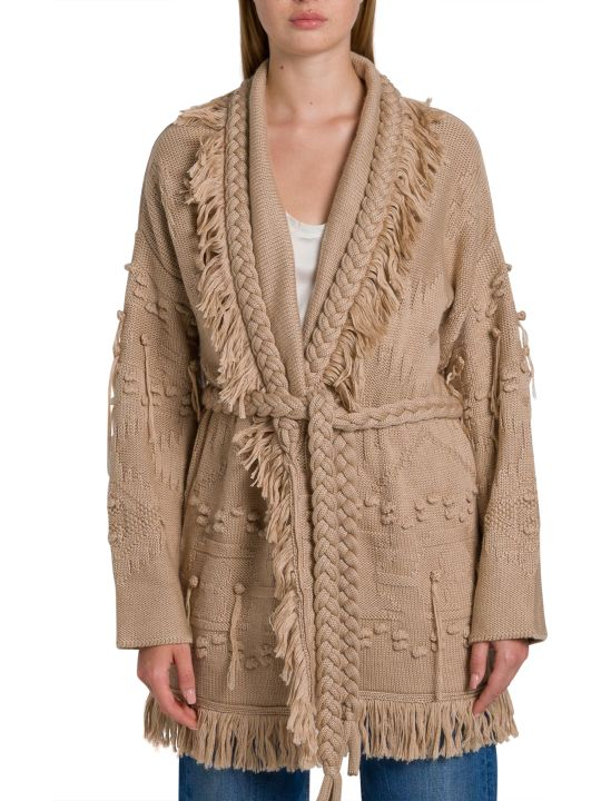 Alanui Icon Fisherman Wool Cardigan
