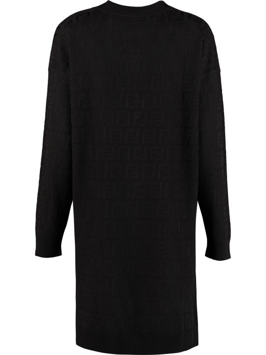 Fendi Knitted Jacquard Dress