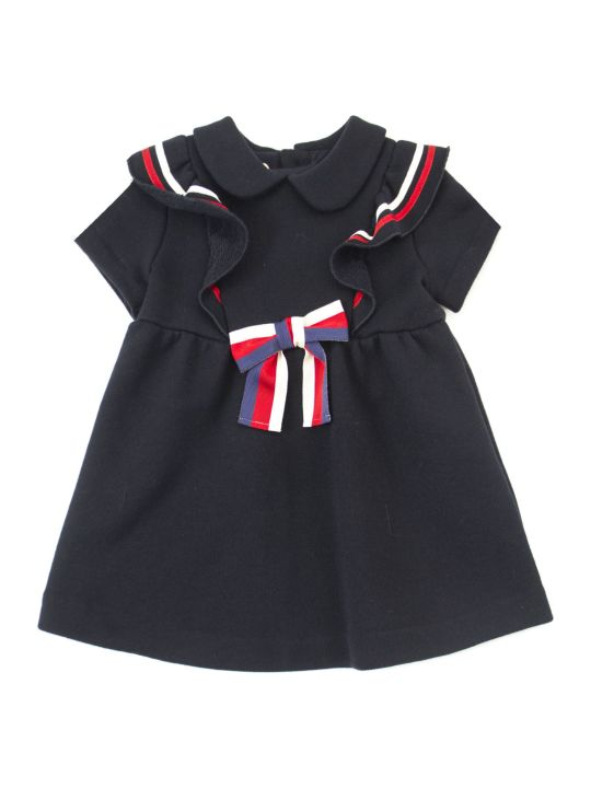 Gucci Baby Cotton Dress With Bow