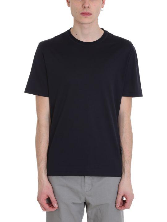 Ermenegildo Zegna Blue Wool T-shirt