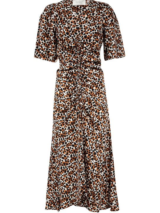 Les Coyotes De Paris V-neck Printed All-over Dress