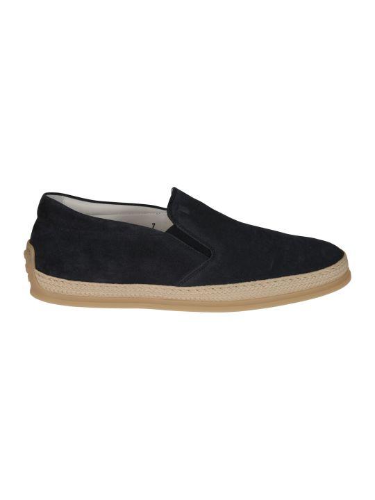 Tod's Raffia Slip-on Sneakers