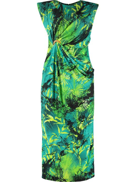 Versace Printed Jersey Sheath-dress
