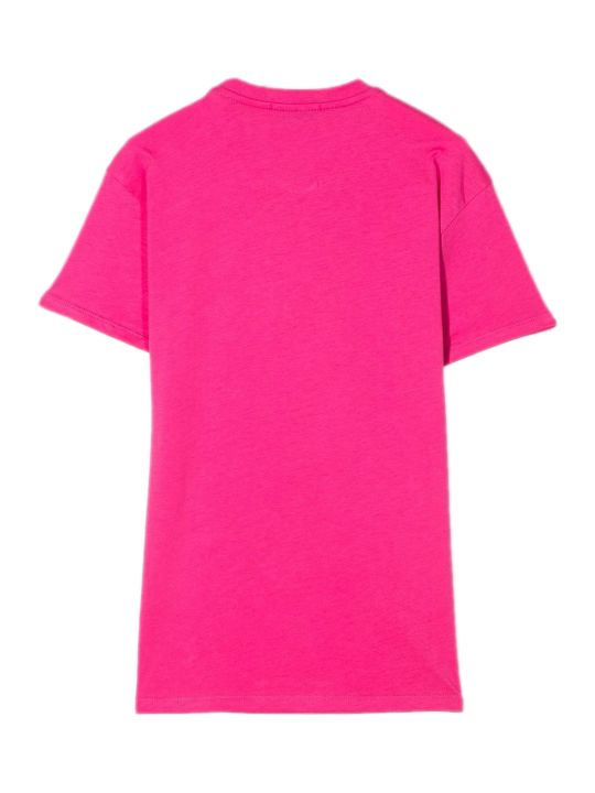 MSGM Fuchsia Cotton T-shirt Dress