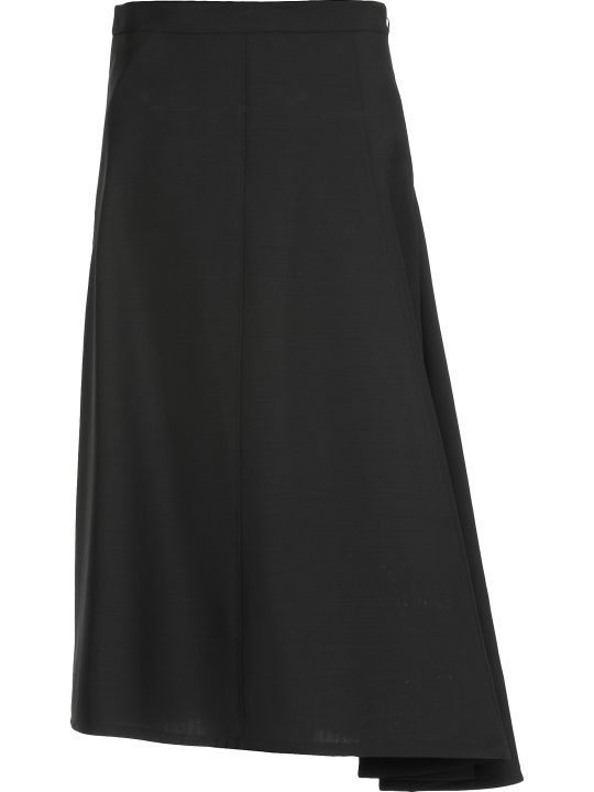 Jil Sander Wool And Mohair Skirt