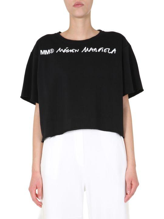 MM6 Maison Margiela Cropped Sweatshirt