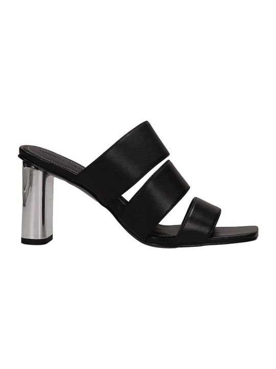 Kendall + Kylie Black Leather Leila Sandals