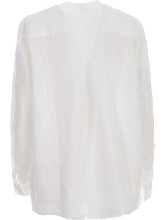 Aspesi Shirt L/s Guru Neck Linen Popeline