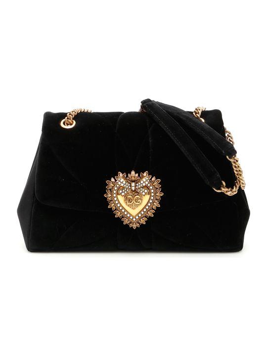 Dolce & Gabbana Devotion Matelasse Velvet Bag